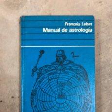 Libros de segunda mano: MANUAL DE ASTROLOGÍA. Lote 204646410