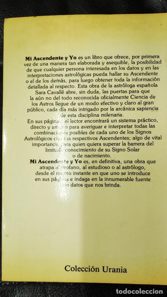 Libros de segunda mano: MI ASCENDENTE Y YO ( SARA CABALLE ) - Foto 2 - 210091932