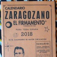 Libros de segunda mano: CALENDARIO ZARAGOZANO. EL FIRMAMENTO 2018. Lote 210791677