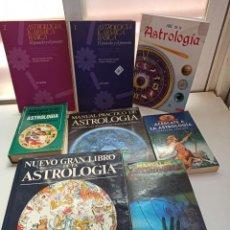 Libros de segunda mano: ASTROLOGIA. 8 LIBROS. Lote 211435245
