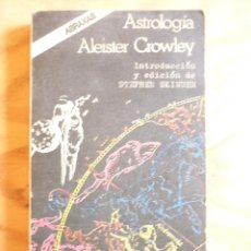 Livres d'occasion: ASTROLOGIA ALEISTER CROWLEY. Lote 262131520