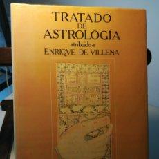 Libros de segunda mano: TRATADO DE ASTROLOGÍA ATRIBUIDO A ENRIQUE DE VILLENA/ PEDRO M. CÁTEDRA (ED.)/ RÍO TINTO MINERA, 1980. Lote 214605377
