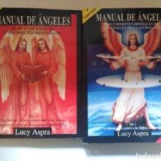 Libros de segunda mano: MANUAL DE ANGELES. LUCY ASPRA 2 VOLUMENES. EDITADO POR LA CASA DE LOS ANGELES. Lote 218318583