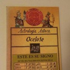 Libros de segunda mano: ASTROLOGÍA AZTECA : OCELOTE. MOCTEZUMA, HIPÓLITO. Lote 219118481