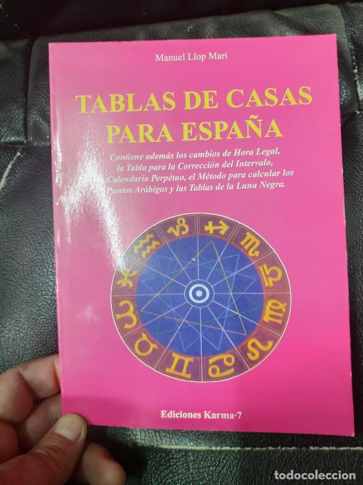 TABLAS DE CASAS PARA ESPAÑA ( MANUEL LLOP MARI ) (Libros de Segunda Mano - Parapsicología y Esoterismo - Astrología)
