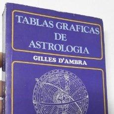 Libros de segunda mano: TABLAS GRÁFICAS DE ASTROLOGÍA - GILLES D'AMBRA. Lote 228466665
