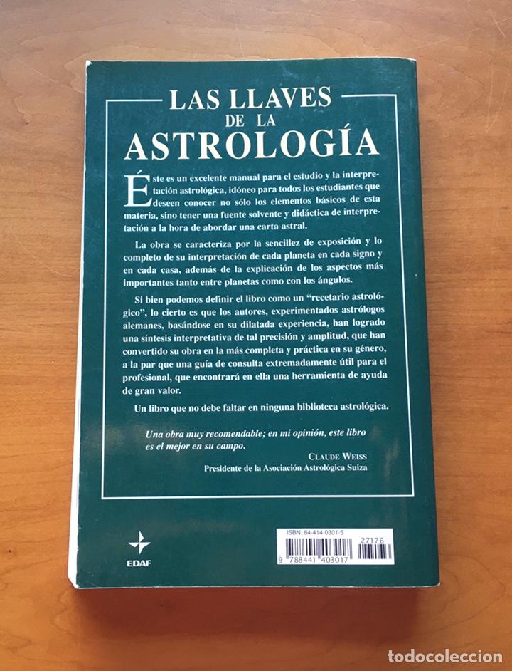 Libros de segunda mano: Libro Las Llaves de la Astrología EDAF 2007 - Foto 2 - 228571265