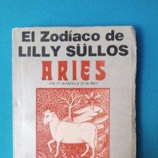 Libros de segunda mano: EL ZODIACO DE LILLY SÜLLOS - ARIES. Lote 230573390