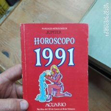 Libros de segunda mano: HOROSCOPO 1991 ACUARIO. L.24311. Lote 245262135