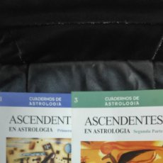 Libros de segunda mano: ASCENDENTES EN ASTROLOGIA 2 TOMOS CUADERNOS DE ESTROLOGIA EUGENIO CARUTTI CASA XI EDITORIAL. Lote 263546970