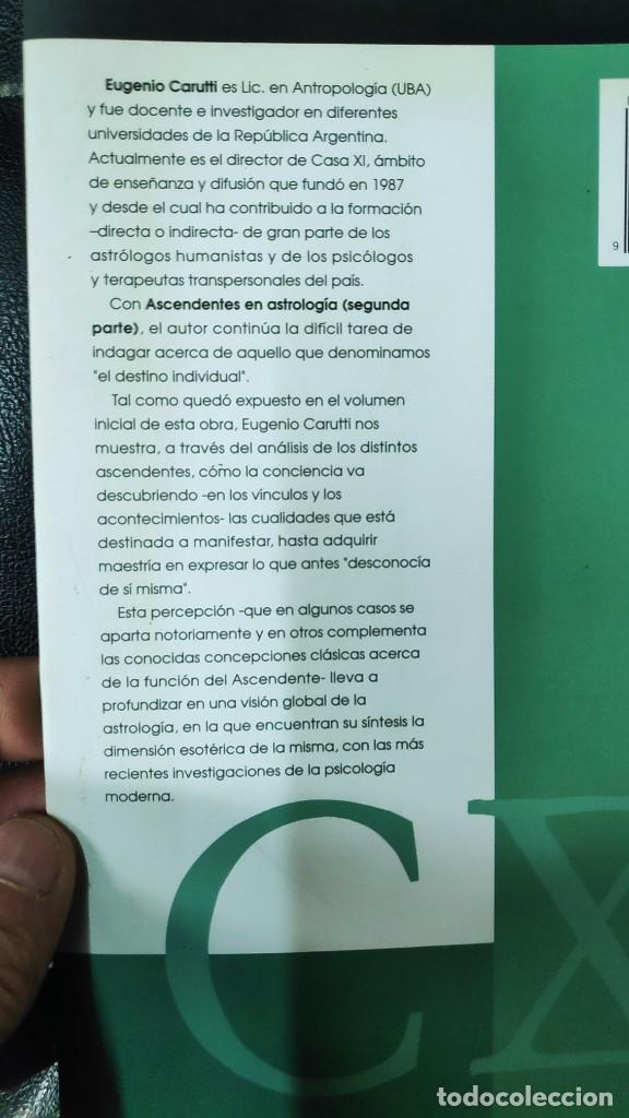 Libros de segunda mano: ASCENDENTES EN ASTROLOGIA 2 TOMOS CUADERNOS DE ESTROLOGIA EUGENIO CARUTTI CASA XI EDITORIAL - Foto 5 - 263546970