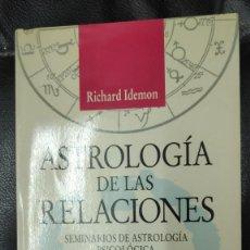 Livros em segunda mão: ASTROLOGIA DE LAS RELACIONES ( SEMINARIOS DE ASTROLOGIA PSICOLOGICA ) RICHARD IDEMON URANO 1996. Lote 268135239