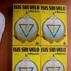 Libros de segunda mano: ISIS SIN VELO / H. P. BLAVATSKY / 4TOMOS. Lote 277289288