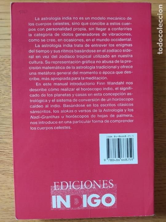 Libros de segunda mano: Astrologia india, Finn Wandahl, ed. Indigo. 1990. - Foto 2 - 278937883