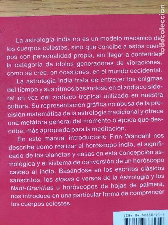 Libros de segunda mano: Astrologia india, Finn Wandahl, ed. Indigo. 1990. - Foto 3 - 278937883