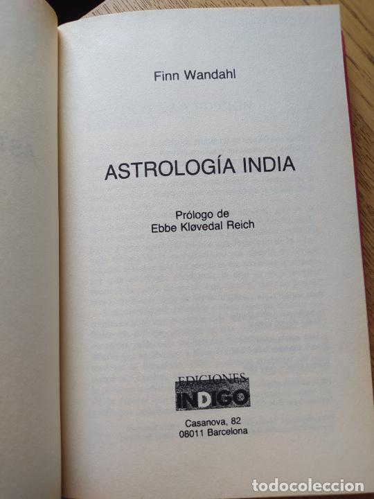 Libros de segunda mano: Astrologia india, Finn Wandahl, ed. Indigo. 1990. - Foto 6 - 278937883