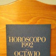 Libros de segunda mano: HOROSCOPO 1992 POR OCTAVIO ACEVES ~ ILUSTRACIONES : EMMANUEL PIERRE. Lote 279411723