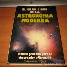 Libros de segunda mano: EL GRAN LIBRO DE LA ASTRONOMIA MODERNA MANUAL PRACTICO PARA EL OBSERVADOR AFICIONADO EDIT.DE VECCHI. Lote 28470564