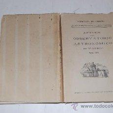 Libros de segunda mano: ANUARIO DEL OBSERVATORIO ASTRONÓMICO DE MADRID PARA 1951. RM31718. Lote 28829447