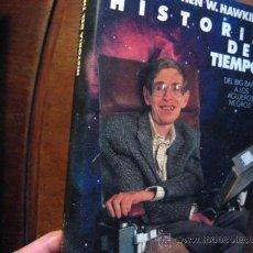 Livres d'occasion: HISTORIA DEL TIEMPO, STEPHEN HAWKING , DEL BIG BANG A LOS AGUJEROS NEGROS ( RR23. Lote 41114489