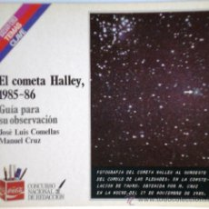 Livres d'occasion: EL COMETA HALLEY 1985-86 GUÍA PARA SU OBSERVACIÓN - JL COMELLAS Y M CRUZ – SALVAT TEMAS CLAVE 1985 . Lote 34148181