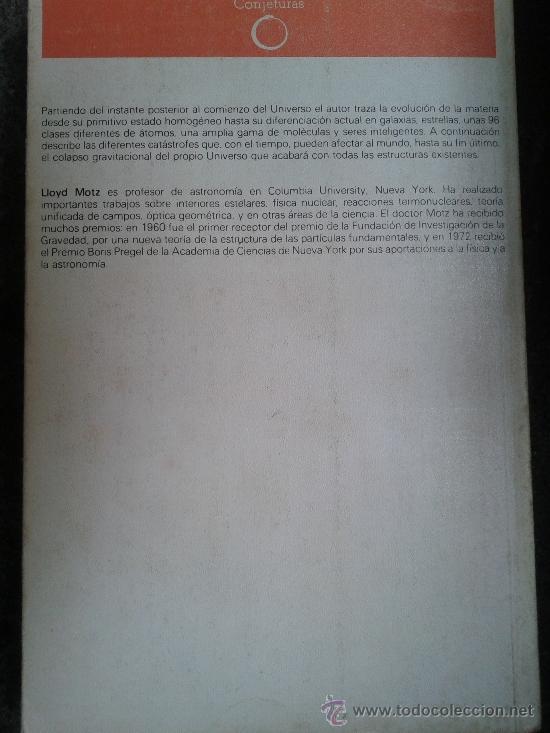 Libros de segunda mano: El Universo su principio y su fin - Lloyd Motz - Con fotografías (central) - 1985 - Astronomía - Foto 2 - 37725665