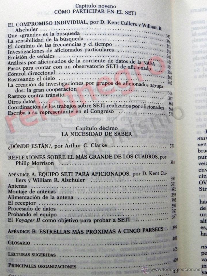 Libros de segunda mano: PRIMER CONTACTO LA BÚSQUEDA DE INTELIGENCIA EXTRATERRESTRE - ASTRONOMÍA EXOBIOLOGÍA OVNIS SETI LIBRO - Foto 3 - 42697830