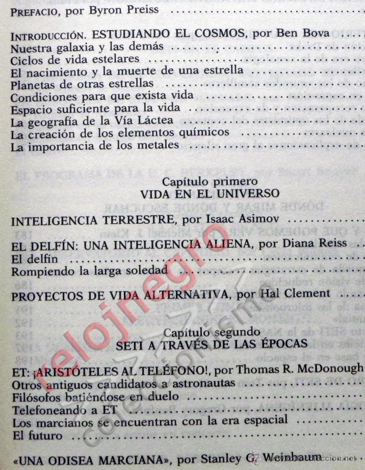 Libros de segunda mano: PRIMER CONTACTO LA BÚSQUEDA DE INTELIGENCIA EXTRATERRESTRE - ASTRONOMÍA EXOBIOLOGÍA OVNIS SETI LIBRO - Foto 5 - 42697830