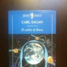 Libros de segunda mano: EL CEREBRO DE BROCA - CARL SAGAN - CRITICA - BARCELONA - 1999 -. Lote 44379956