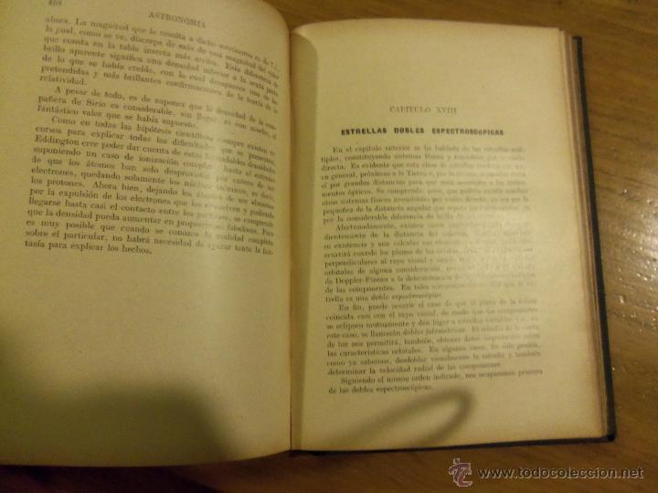 Libros de segunda mano: ASTRONOMIA, por José Comas Solá - RARA EDICION - Edit. Sopena - 1939 - ESPAÑA - Foto 7 - 44662480
