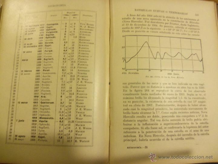 Libros de segunda mano: ASTRONOMIA, por José Comas Solá - RARA EDICION - Edit. Sopena - 1939 - ESPAÑA - Foto 8 - 44662480