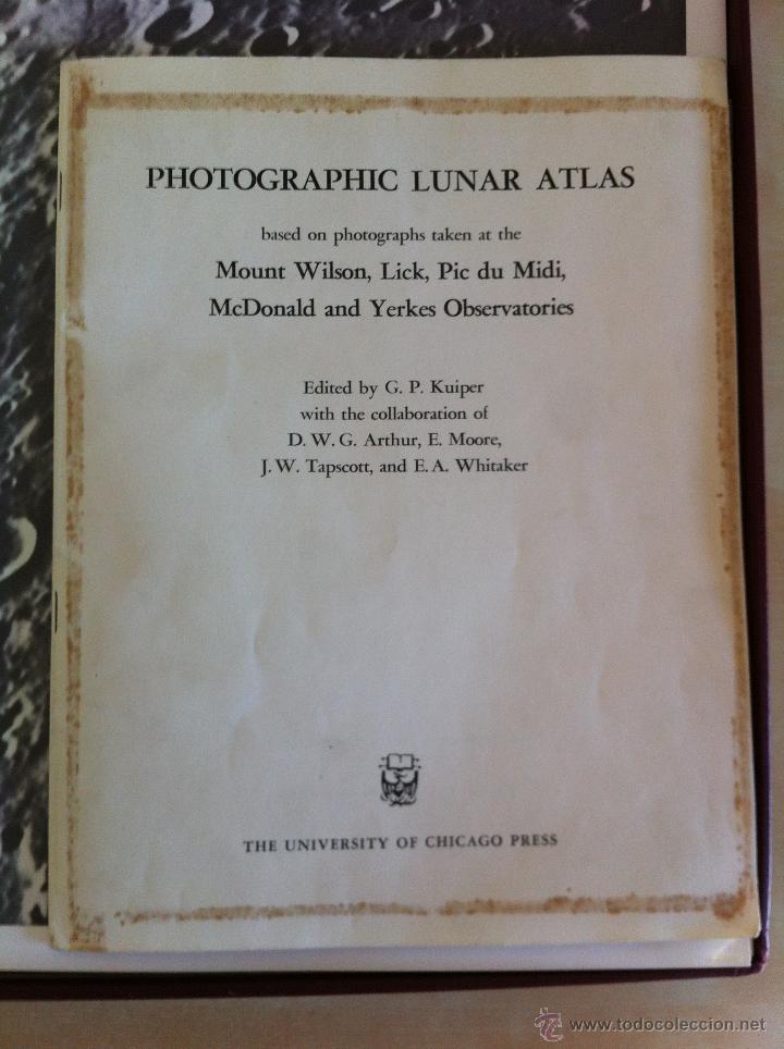 Libros de segunda mano: PHOTOGRAPHIC LUNAR ATLAS. EDITED BY GERARD P.KUIPER. --- ATLAS LUNAR. 229 LÁMINAS --- - Foto 5 - 53741248