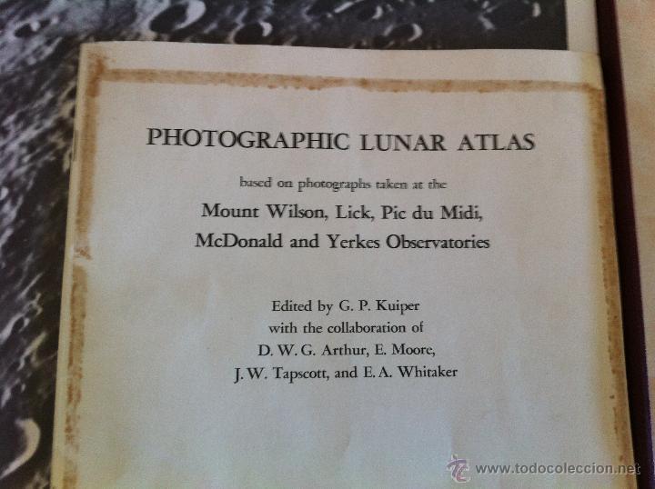 Libros de segunda mano: PHOTOGRAPHIC LUNAR ATLAS. EDITED BY GERARD P.KUIPER. --- ATLAS LUNAR. 229 LÁMINAS --- - Foto 6 - 53741248