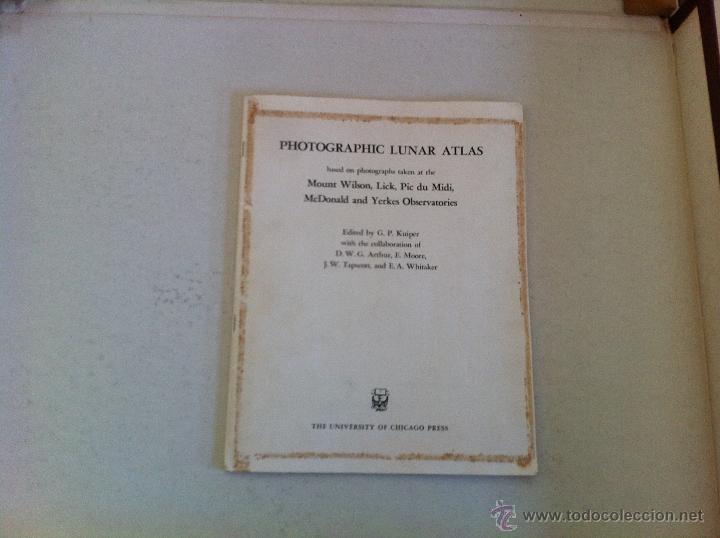 Libros de segunda mano: PHOTOGRAPHIC LUNAR ATLAS. EDITED BY GERARD P.KUIPER. --- ATLAS LUNAR. 229 LÁMINAS --- - Foto 8 - 53741248