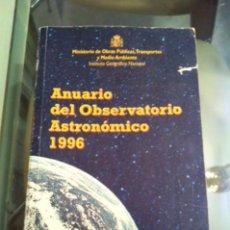 Libros de segunda mano: ANUARIO DEL OBSERVATORIO ASTRONOMICO DE MADRID PARA 1996 - CENTRO NACIONAL DE INFORMACION GEOGRAFIA. Lote 48473844