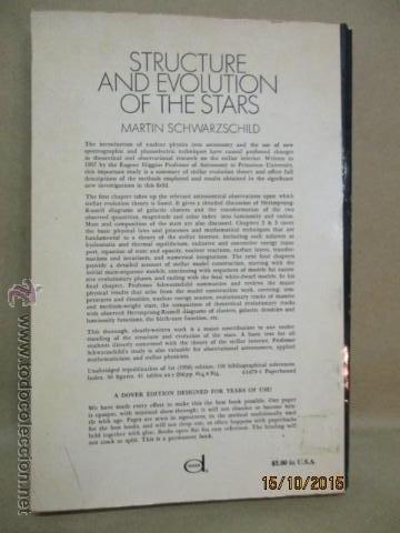 Libros de segunda mano: The Structure and Evolution of the Stars (Inglés) Tapa blanda – 296 pag. de M. Schwarzschild, Autor - Foto 12 - 51993721