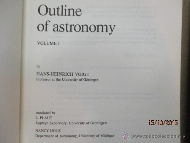 Libros de segunda mano: Outline of Astronomy: vol I y II, Tapas Blandas - de H.H. Voigt (Autor), H. Plant (Traductor) - Foto 3 - 51993751