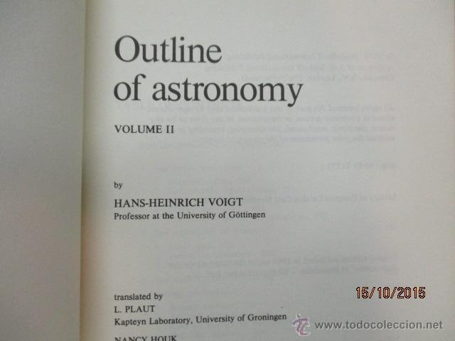 Libros de segunda mano: Outline of Astronomy: vol I y II, Tapas Blandas - de H.H. Voigt (Autor), H. Plant (Traductor) - Foto 12 - 51993751