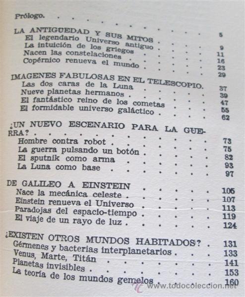 Libros de segunda mano: EL ESPACIO Y LOS MUNDOS ESTELARES - Por Mario Lleget – A. J. Branston - 1ª edición 1962 - Foto 3 - 52697883