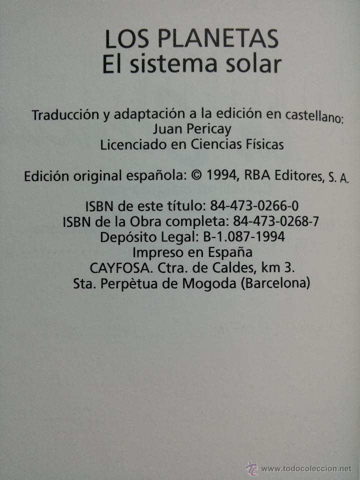 Libros de segunda mano: CONOCER LA CIENCIA, LOS PLANETAS, EL SISTEMA SOLAR, RBA, 1994 - Foto 2 - 54048810