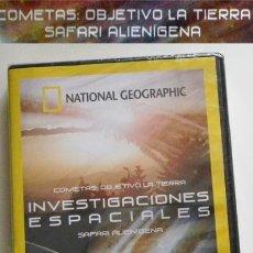 Libros de segunda mano: DVD INVESTIGACIONES ESPACIALES DOCUMENTAL PRECINTADO - SAFARI ALIENÍGENA - COMETAS - SETI - NO LIBRO. Lote 54393365
