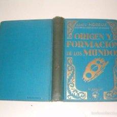 Libros de segunda mano: THOMAS MOREUX. ORIGEN Y FORMACIÓN DE LOS MUNDOS. RMT75232. . Lote 57488800