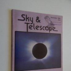 Libros de segunda mano: SKY & TELESCOPE SEPTEMBER 1983 VOL. 66, Nº 3. Lote 57577030
