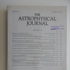 Libros de segunda mano: THE ASTROPHYSICAL JOURNAL. VOLUME 280 NUMBER 2 PART 1 15/05/1985. Lote 57602735