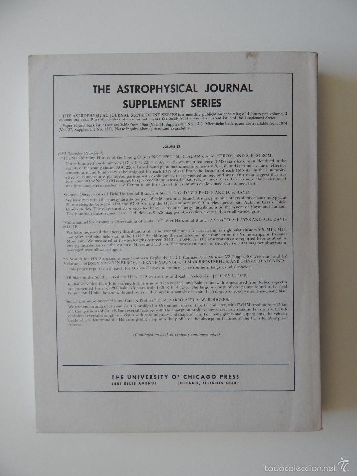 Libros de segunda mano: The Astrophysical Journal. Volume 275 Number 1 Part 1 1/12/1983 - Foto 4 - 57641270
