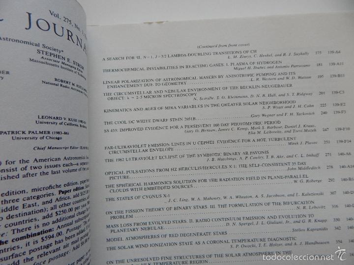 Libros de segunda mano: The Astrophysical Journal. Volume 275 Number 1 Part 1 1/12/1983 - Foto 6 - 57641270