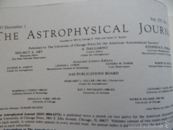 Libros de segunda mano: The Astrophysical Journal. Volume 275 Number 1 Part 1 1/12/1983 - Foto 7 - 57641270