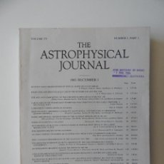 Libros de segunda mano: THE ASTROPHYSICAL JOURNAL. VOLUME 275 NUMBER 1 PART 1 1/12/1983. Lote 57641270