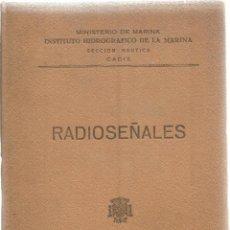 Livres d'occasion: RADIOSEÑALES. MINISTERIO DE MARINA. AÑO 1961. Lote 57647807