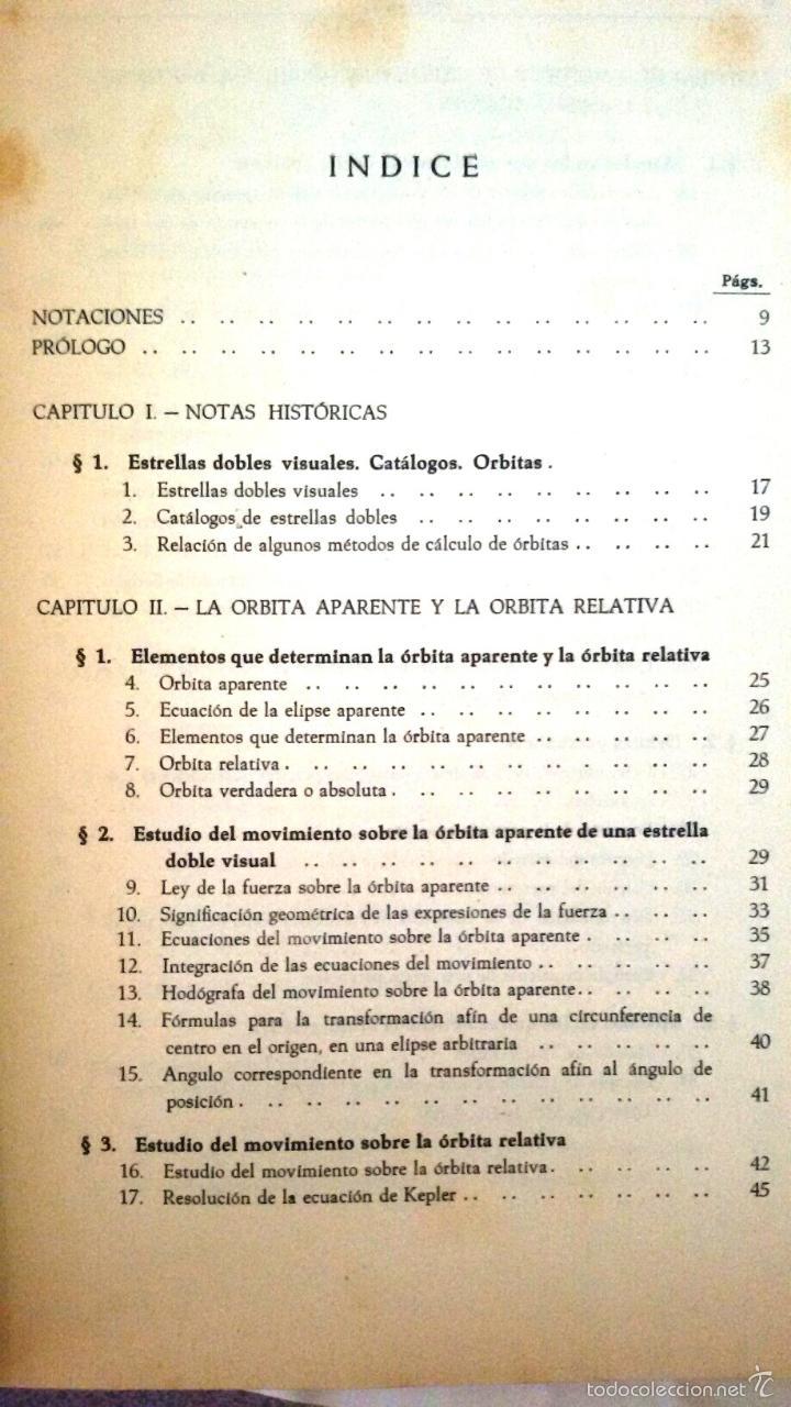 Libros de segunda mano: CÁLCULO DE ÓRBITAS DE ESTRELLAS DOBLES VISUALES (VIDAL ABASCAL, 1953) SIN USAR. - Foto 4 - 175961344